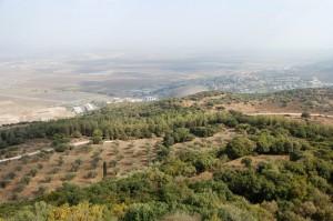 Israel - gezicht vanaf Karmel op vlakte v Jizreel -2
